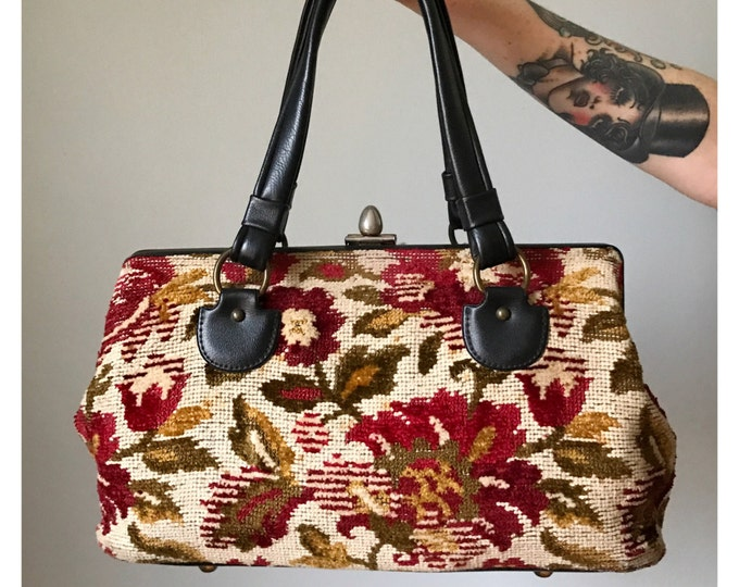 Vintage Needlepoint Satchel