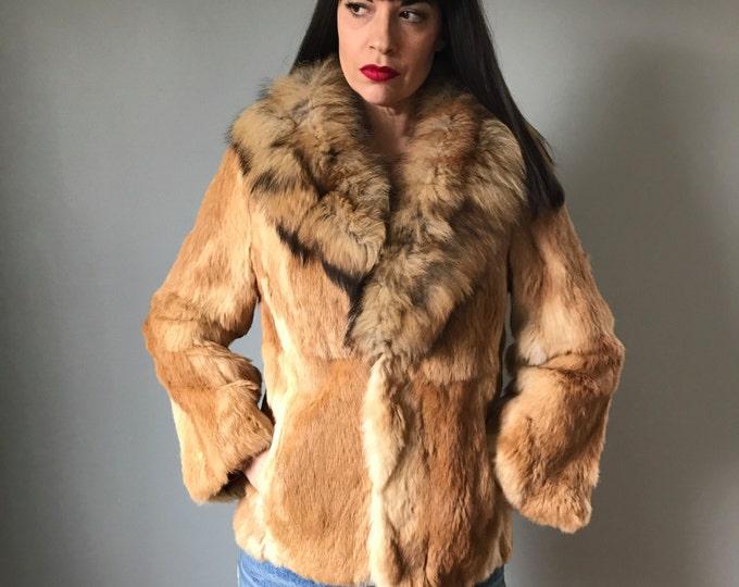 Vintage Fox + Rabbit Fur Coat