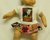 Wonder Woman Theme Outfit (2) For 16 Inch Doll Like The Bitty Baby