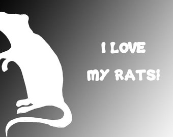 I Love My Rats Vinyl Decal