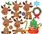 ON SALE INSTANT Download. Ccr_1_Christmas_Reindeer. Personal and commercial use.