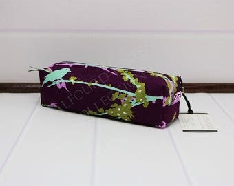 Makeup Brush Pouch - Box Toiletry Bag - Toothbrush Travel Pouch - Makeup Storage - Knitting Notions - Joel Dewberry - Gift for Her