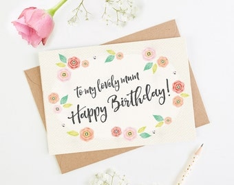 Mum Birthday Card Floral Bright
