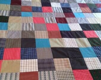 """Handmade """"Man"""" Quilt  93 X 74  patchwork"""