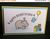 Shop Closing Sale Hippo Birthday Card - Hippo Birdie to You Card - Birthday Card - Hippo Card