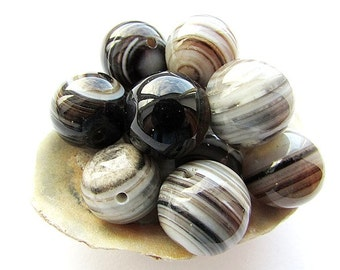 6pcs Natural Agate Beads 14 - 15 mm Striped Agate Beads Natural Stone Beads Gemstone Beads Craft Supplies