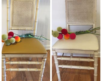 FAUX BAMBOO FOLDING Chairs Sold Separately! Stakmore, Cane Back, Dining Chair, Office Chair, Chinoiserie, Palm Beach Chic at Ageless Alchemy