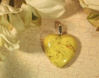 Custom Keepsake / Memorial Pendant or Necklace made from your Flower Petals or loved one's Hair or Pet fur - Choose Color - HEART CABOCHON