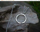 Sale Sterling Silver Necklace, Circle Necklace, Sterling Circle Necklace, Circle, Silver Circle Necklace,Sterling Silver