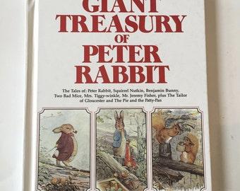 Giant Treasury of Peter Rabbit / Vintage Easter Book Beatrix Potter Children's Book w/Original Illustrations Hardcover 1980