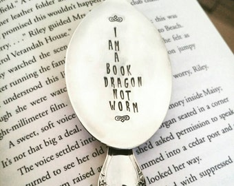 Bookmark, I Am a Book Dragon Not Worm, Gift for Book Lover, Gift for Reader