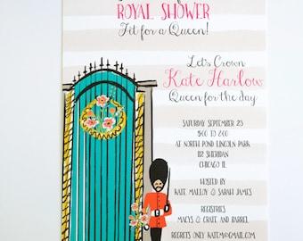 BRIDAL SHOWER INVITATIONS  - London Themed Bridal Shower