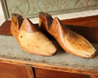Vintage Wooden Shoe Lasts Industrial Decor