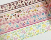 1 Roll of Japanese Disney Washi Masking Tape (Pick 1): Alice in the Wonderland,   Minnie and Cakes, Cinderella, or Mickey Head