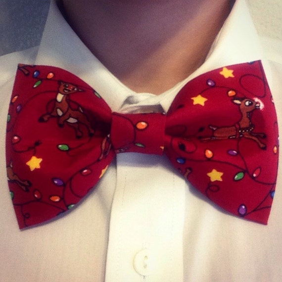 Rudolph the Rednose Reindeer Bow Tie