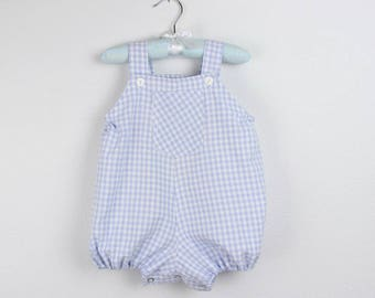 Bubble Romper - Checkered blue bubble - Available in more colors
