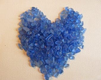 Cornflower Blue sea glass genuine small beach glass