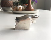 Vintage  Silverplate Dansk Bull Paper Weight / Gunnar Cyren Design