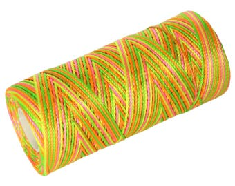 15 Meters Nylon Cord - Multicolor - Not Waxed- Crochet Thread - Summer
