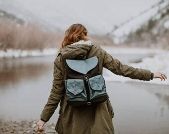 CUSTOM Leaf Bag/Waterproof Bag/Boho Backpack/Hipster Backpack/Women's Rucksack/Festival Backpack/Collage Backpack/School Backpack