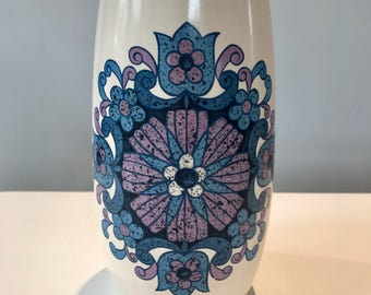 Vintage New Devon Pottery Floral Ceramic Vase