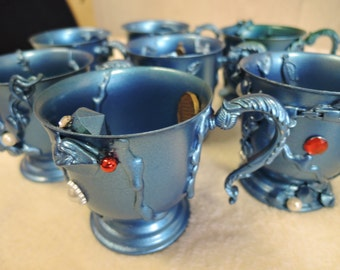 Under The Sea Disney Inspired  Mermaid Treasure Unique Vintage Punch Cup