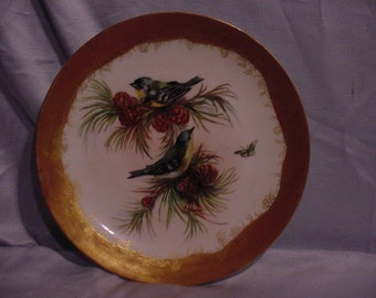 Antique Decorative Plate Parula Warbler