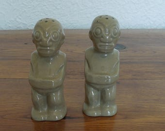 Vintage Trader Vics Tiki Salt and Pepper Shakers