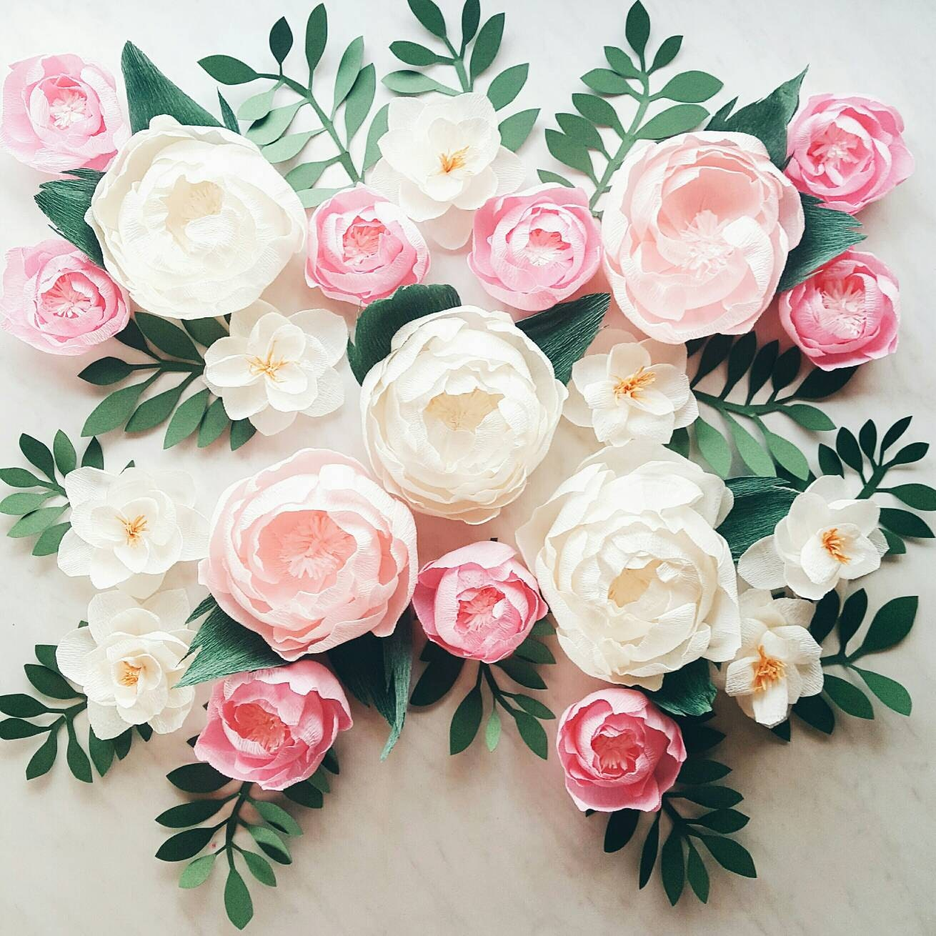 Paper flower wall display girl nursery wall decor garden details gorgeous flower wall display with paper amipublicfo Images