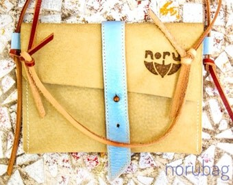 Phone Case Kiri. Little shoulder bag ( genuine leather)