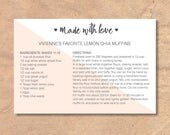 Reserved Listing for Ashley // Printable & Editable Recipe Cards: Instant Download Modern Diagonal
