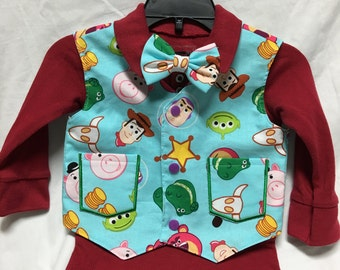 Living Toys Kids Vest and tie or bow tie set for a wedding or formal event