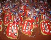 Reserved for Nicki Double Decker Bus Vanilla Sugar Cookies - 2 Dozen