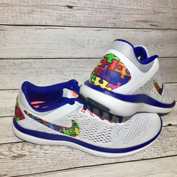 new Autism awareness shoes autism speaks nike by DAMFancyCreations ... fe408c1ba
