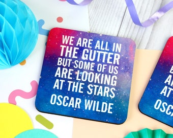 Oscar Wilde Quote Coaster. Oscar Wilde Coaster. Book Lover. Book Geek. BookWorm. Book Nerd. Literary Gifts. Literary Coaster. Bookish Gifts.