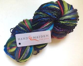 40% Off Handmaiden Wool Slub Spun Silk Yarn Thick n Thin Bulky Scarf Kit 136 Yards 5.5 ounces