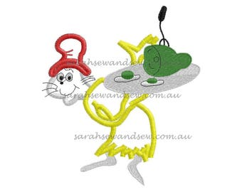 Green Eggs and Ham Embroidery Design
