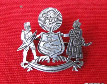 Vintage antique Sterling Silver Brooch Pin Mewar India