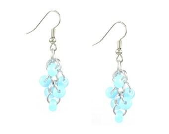 Sky Blue Cluster Earrings