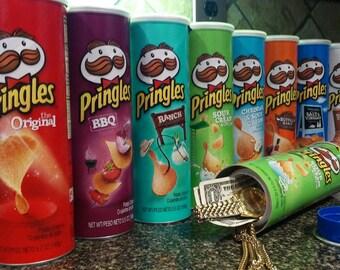 Pringles Stash Can Diversion Safe w/ Chips Inside. Choose Flavor!