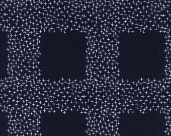 Cotton and Steel -Bluebird,  Not Minus, Rashida Colman-Hale  Sewing Material, Quilting, Clothing, Craft -Fat Quarter, Half Yard, By The Yard