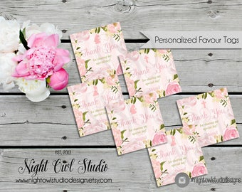 First Communion Favour Tags, Personalized Communion Favor Tags, Girl Communion, Floral Communion