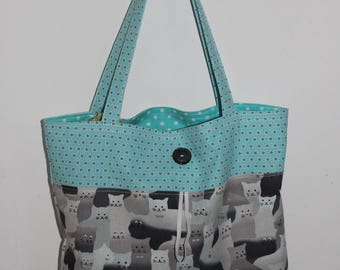 Cats grocery bag