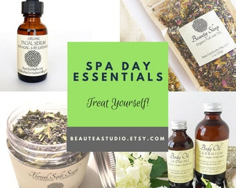 Deluxe Spa Gift - Spa & Relaxation Gift Set / All Natural Gift Set/Mother's Day / Organic Skincare - Gifts for Her-Face / Body / Bath