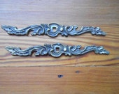 Pair of Vintage French Provincial Dresser Drawer Furniture Pull Backplate Only 6 5/8 Inches Restoration Hardware Salvage See Quantity