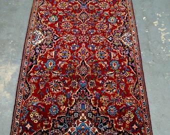 1990s Vintage Kashan Persian Rug (3533)