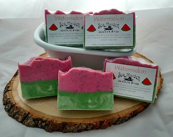 Hand Crafted WATERMELON Coconut Milk Soap