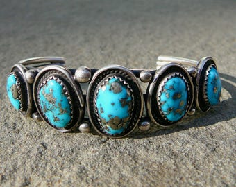 Turquoise and Silver Bracelet, Turquoise and Silver Jewelry, Turquoise Bracelet, Native American Turquoise, Native American Jewelry