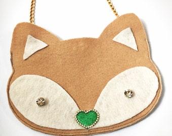 LilTUCK Fox Animal Purse - Kids Girls Cute Jeweled Designer Luxe Handbag Purse.. Cute gift idea! by Tuckbrand