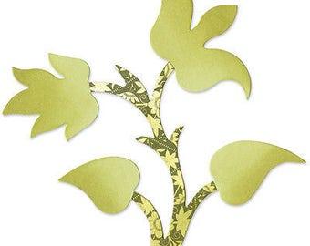 Sizzix Bigz Die By BasicGrey 5.5'X6'-Flower Plant